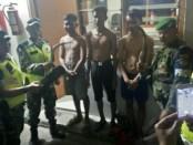 Tiga remaja yang diamankan Tim Patroli Koramil 04/Cengkareng saat akan terlibat aksi tawuran pada Minggu, 17 Februari 2019 dini hari - foto: Istimewa