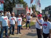 Keterangan foto: Jalan Sehat Caleg Partai Perindo bersama masyarakat Kalurahan Mojosongo/ foto: koranjuri