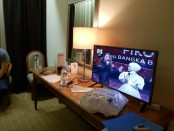 Kamar hotel yang diduga digunakan oleh Andi Arief menginap saat polisi menemukan sabu-sabu dan alat hisap di kloset hotel - foto: Istimewa