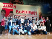 Organisasi JAMAN yang menjadi gerakan dukungan terhadap Jokowi mengadakan pembekalan Pasukan Pastikan Pemilih PasPilih #01 menjelang pencoblosan. Pembekalan kepada para anggota bertujuan untuk mengamankan suara Capres 01 - foto: Koranjuri.com