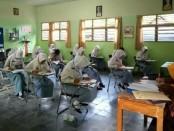 Pelaksanaan USBN di SMK Kesehatan Purworejo, Selasa (2/4) - foto: Sujono/Koranjuri.com