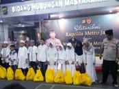 Kapolda Metro Jaya mengadakan acara santunan anak yatim sekaligus buka puasa bersama dengan wartawan yang bertugas di Polda Metro Jaya, Rabu (29/5/2019) - foto: Bob/Koranjuri.com