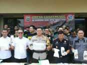 Polres Metro Jakarta Barat menggelar Prescon terkait pengungkapan sabu-sabu jaringan internasional, Kamis, 9 Mei 2019 - foto: Bob/Koranjuri.com