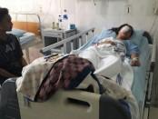 Kondisi korban Layla Putri Ramadhani (16), siswa kelas IX SMP Negeri 2 Purworejo, warga Bedug, Bagelen, yang kini dirawat di RS Sardjito, Yogyakarta - foto: Sujono/Koranjuri.com