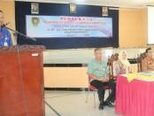 Kepala Dinas Perindustrian dan Tenaga Kerja Kabupaten Purworejo, Gatot Suprapto, SH, saat membuka pelatihan ketrampilan berbasis kompetensi, Selasa (2/7), di UPT BLK Cangkrep - foto: Sujono/Koranjuri.com