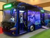 Uji coba bus listrik yang nantinya akan menggantikan angkutan PPD - foto: Istimewa