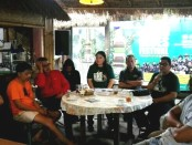 Keterangan pers penyelenggaraan Bali Blues Festival (BBF) ke-5 yang diadakan oleh Indonesia Tourism Development Center (ITDC) dan Event Organizer Pregina Art Showbiz, di Kubu Kopi Denpasar, Selasa, 9 Juli 2019 - foto: Koranjuri.com