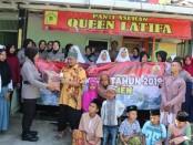 Pemberian bantuan dari polwan Polres Kebumen untuk penghuni Panti Asuhan Queen Latifa, Selasa (27/8), dalam rangka memperingati HUT Polwan ke 71.  - foto: Sujono/Koranjuri.com