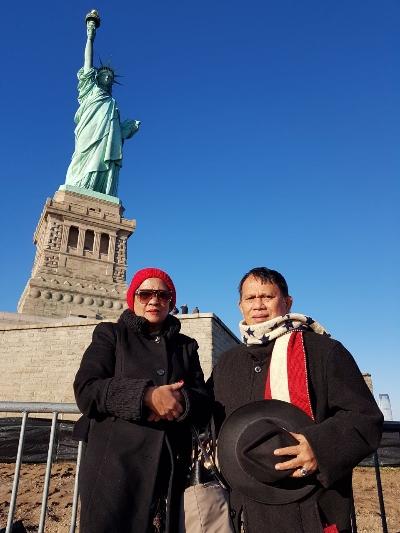 Patung Liberty ikon kota New York sebagai kota terbaik di dunia yang selalu dipenuhi kunjungan turis - foto: Istimewa