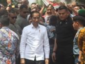 Kedatangan Presiden Jokowi ke Purworejo, Kamis (29/8), disambut dan dielu-elukan ribuan warga - foto: Sujono/Koranjuri.com