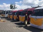 Peresmian angkutan perintis Subsidi Angkutan Jalan dengan pemecahan Kendi, Kamis, 8 Agustus 2019 - foto: Koranjuri.com