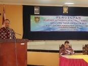 Kepala Dinperinaker Kabupaten Purworejo, Gatot Suprapto, SH, saat menutup pelatihan ketrampilan berbasis kompetensi, Jum'at (9/8) di BLK Cangkrep, Purworejo - foto: Sujono/Koranjuri.com