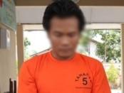PBK (37), seorang residivis warga jalan Dewi Sartika, Sindurjan,  Purworejo, kembali berurusan dengan polisi, setelah menyikat tiga hp milik karyawan Hotel Ganesha, Purworejo - foto: Sujono/Koranjuri.com