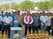 Sebanyak 29 Tim sepak bola perwakilan dari 10 Kecamatan  mengikuti Liga Desa tingkat Kabupaten Rote Ndao  yang digelar di lapangan sepak bola Ba'a, Jumat (18/10/2019) sore - foto: Zak/Koranjuri.com