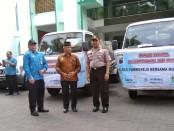 Pelepasan bantuan air bersih ke Desa Ngandagan dan Desa Polowangi, Pituruh, hasil kerjasama Polres Purworejo, Muhammadiyah, dan PDAM Purworejo, Kamis (31/10) - foto: Sujono/Koranjuri.com