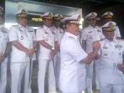Pisah sambut Panglima Koarmada I yang sebelumnya dijabat oleh Laksamana Muda TNI Yudo Margono, S.E., M.M., diserahterimakan kepada Laksamana Muda TNI Muhammad Ali, S.E., M.M - foto: Bob/Koranjuri.com