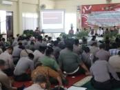 Suasana doa bersama untuk negeri yang dilakukan oleh Polres Purworejo, Sabtu (19/10) pagi - foto: Sujono/Koranjuri.com