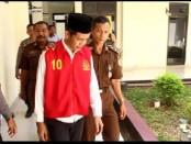 Gunardi, terdakwa kasus pembunuhan satu keluarga di Panggeldlangu, Butuh, Purworejo, akhirnya divonis hukuman mati oleh PN Purworejo, Kamis (24/10/2019) - foto: Sujono/Koranjuri.com