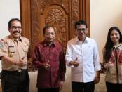 Ki-ka: Wagub Bali Tjokorda Oka Artha Ardhana Sukawati, Gubernur WAYAN Koster, Menparekraf Wishnutama Kusubandio dan Wamenparekraf Angela Tanoesudibjo - foto: Istimewa