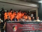 Sejumlah pelaku kejahatan yang berhasil diungkap Subdit 3 Resmob Reskrimum Polda Metro Jaya, diekspose kepada media, Jumat, 29 November 2019 - foto: Bob/