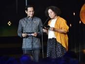 Mendikbud Nadiem Anwar Makarim menghadiri penganugerahan Piala Citra Festival Film Indonesia (FFI), Minggu (8/12/2019) - foto: Istimewa