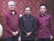 Gubernur Bali Wayan Koster bersama Duta Besar Jepang untuk Indonesia Masafumi Ishii dan Konjen Jepang untuk Bali Hirohisa Chiba - foto: Istimewa