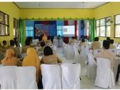 Suasana Sosialisasi Angka Putus Sekolah dan Permasalahan Siswa SMP Negeri 32 Purworejo Tahun 2019, Senin (30/12), di aula setempat - foto: Sujono/Koranjuri.com