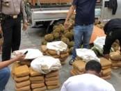 Barang bukti ratusan kilogram narkoba diamankan Polres Metro Jakarta Barat - foto: Bob/Koranjuri.com
