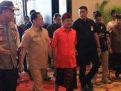 Mendagri Tito Karnavian, Gubernur Bali Wayan Koster dan Kapolda Bali Irjen Pol Petrus Reinhard Golose menghadiri MICE tingkat Kementrian di BNDCC Bali, Kamis, 27 Februari 2020 - foto:Istimewa