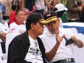 Kampanye antinarkoba dan sosialisasi Pekan Olah Raga Nasional (PON) 2020 Papua di Bundaran Hotel Indonesia, Minggu (23/2/2020) - foto: Istimewa