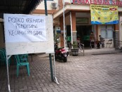 Posko kedatangan pemudik untuk mencegah penyebaran Corona di Kecamatan Sambi, Boyolali - foto: Koranjuri.com