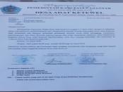 Surat keputusan Rapat Desa Ketewel yang memberitahukan masyarakat Desa Ketewel perihal Nyepi Sipeng pada tanggal 23 April 2020 mendatang - foto: Catur/Koranjuri.com