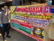 Kapolres Purworejo AKBP Rizal Marito, saat mengukuhkan Desa Grantung, Bayan, sebagai Kampung Siaga Covid-19, Senin (13/4/2020) - foto: Sujono/Koranjuri.com