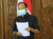 Gubernur Bali Wayan Koster yang juga ketua Gugus Tugas Penanggulangan Covid-19 Provinsi Bali - foto: Istimewa