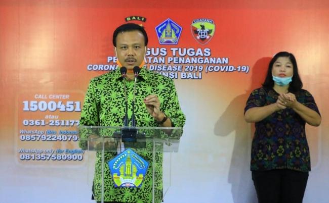 Ketua Harian Gugus Tugas Percepatan Penanganan COVID-19 Provinsi Bali Dewa Made Indra - foto: Istimewa