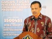 Ketua Harian Gugus Tugas Bali Dewa Made Indra - foto: Istimewa