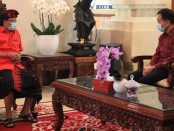 Konsulat Jenderal (Konjen) Jepang Hirohisa Chiba di Denpasar berpamitan dengan Gubernur Bali Wayan Koster, Kamis, 23 April 2020. Chiba akan mengakhiri tugasnya pada 3 Mei 2020 - foto: Istimewa