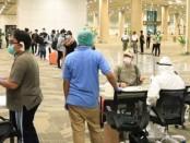 Screening di Bandara Ngurah Rai terhadap Pekerja Migran Indonesia asal Bali - foto: Pemprov Bali