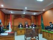 Sidang teller PT BPR Suryajaya Ubud dengan agenda tuntutan hukum dari JPU di Pengadilan Negeri Gianyar, Kamis (30/4/2020) kemarin - foto: Catur/Koranjuri.com