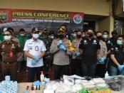Pemusnahan berbagai jenis barang bukti narkoba oleh Polres Metro Jakarta Barat, Rabu, 10 Juni 2020 - foto: Istimewa
