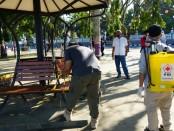 Pelepasan crossline di alun-alun Purworejo, menandai mulai dibukanya fasilitas-fasilitas umum di Kabupaten Purworejo, pasca berakhirnya masa tanggap darurat Covid-19, menuju masa new habit - foto: Sujono/Koranjuri.com