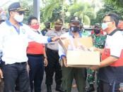 Kasat Pol PP Provinsi Bali Dewa Nyoman Rai Darmadi meninjau Pasar Galiran, Klungkung, Jumat (26/6/2020) - foto: Istimewa