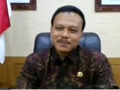 Sekda Pemprov Bali Dewa Indra dalam Rapat virtual Koordinasi Komite Advokasi Daerah dengan Pemerintah Provinsi Bali dan Satgas Korwil IX KPK, Rabu, 1 Juli 2020 - foto: Istimewa