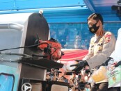 Kapolri Jenderal Pol Idham Azis memimpin pemusnahan barang bukti narkoba dalam jumlah besar di lapangan Promoter, Mapolda Metro Jaya, Jakarta, Kamis, 2 Juli 2020 - foto: Istimewa