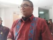 Humas dan Data Informasi Badan Pengawas Pemilu (Bawaslu) RI, Fritz Edward Siregar mendatangi Bawaslu Gianyar, Selasa (7/7/2020) - foto: Catur/Koranjuri.com