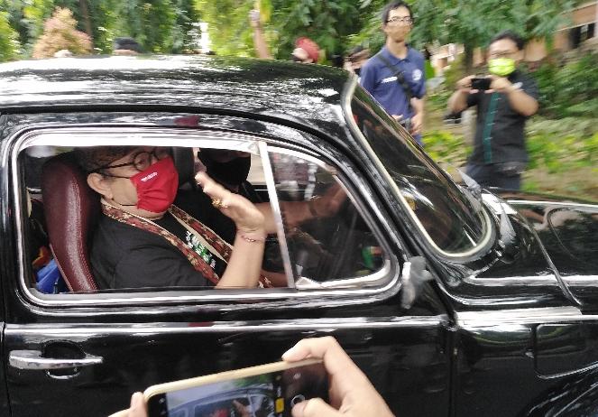 Wagub Bali Tjokorda Oka Artha Ardhana Sukawati memimpin turing sosialisasi penerapan kehidupan baru di Bali, Kamis, 9 Juli 2020 - foto: Istimewa