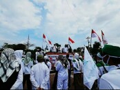 Sejumlah ormas di Kabupaten Purworejo melakukan aksi tolak RUU HIP, Jum'at (10/07/2020) - foto: Sujono/Koranjuri.com