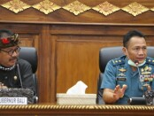 Wagub Tjokorda Oka Artha Ardhana Sukawati bertemu dengan Staf Ahli Menko Polhukam Bidang Kedaulatan Wilayah dan Kemaritiman Laksmana Muda TNI Yusup di Gedung Wiswa Sabha Utama, Kantor Gubernur Bali, pada Rabu (15/7/2020) - foto: Istimewa