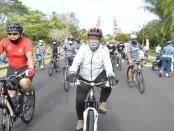 Wagub Bali Tjokorda Oka Artha Ardhana Sukawati bersama pimpinan Bank Indonesia Perwakilan Bali menggelar kegiatan 'Gowes Bareng', Minggu, 19 Juli 2020 - foto: Istimewa