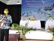 Deputi Direksi BPJS Kesehatan Wilayah Bali, NTT dan NTB Beno Herman dalam sosialisasi Peraturan Presiden Nomor 64 Tahun 2020 di Gianyar, Kamis, 30 Juli 2020 - foto: Koranjuri.com